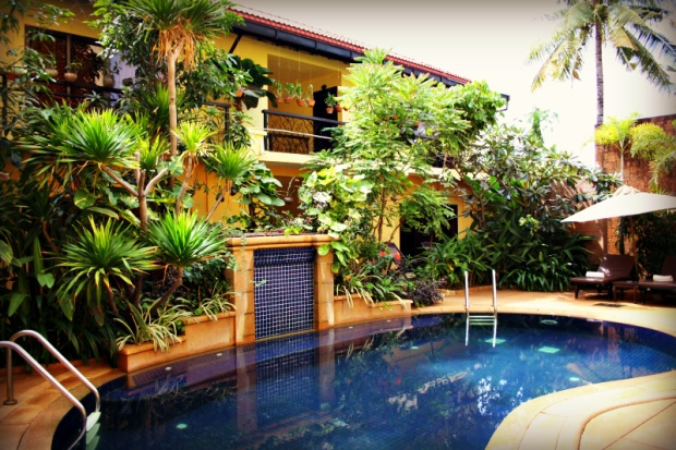 Inside view of hotel Mont Royal in Siem Reap