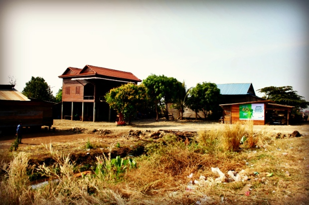Typical houses in rural Cambodia