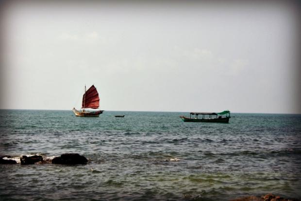 Boats at the Cambodian coast