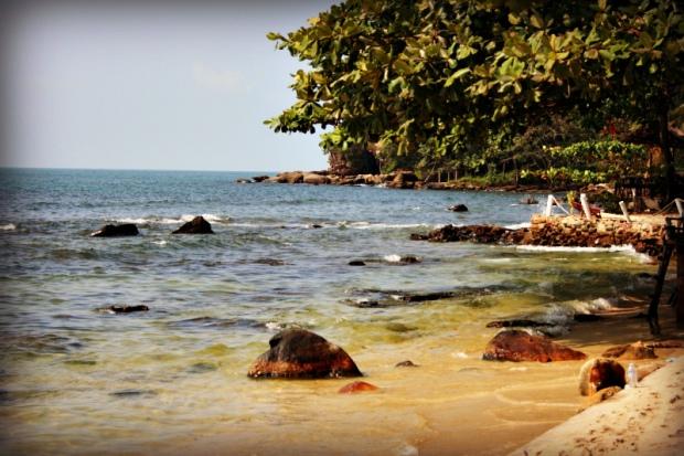 Idyllic scenery at the Cambodian coast