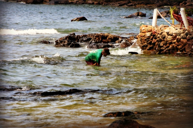 Fisherman at the Cambodian coast