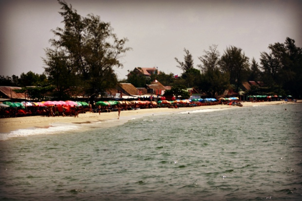Party beach in Sihanoukville
