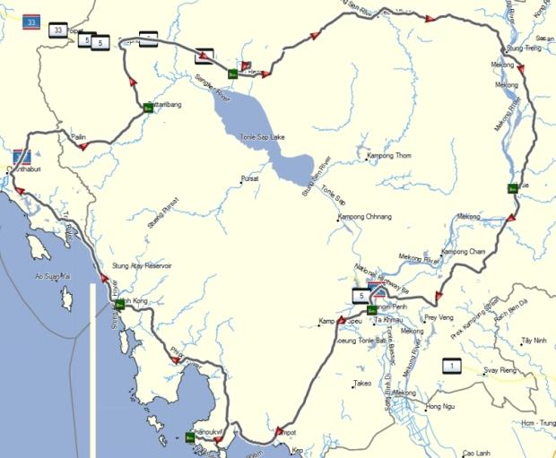 1.700 km tour in Cambodia