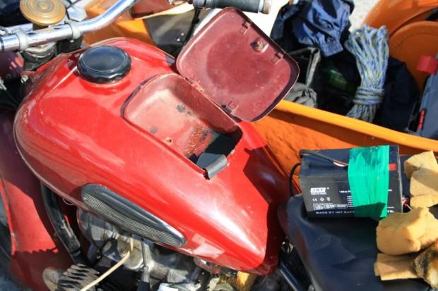 Fuel in the tank folder of Sandro's bike