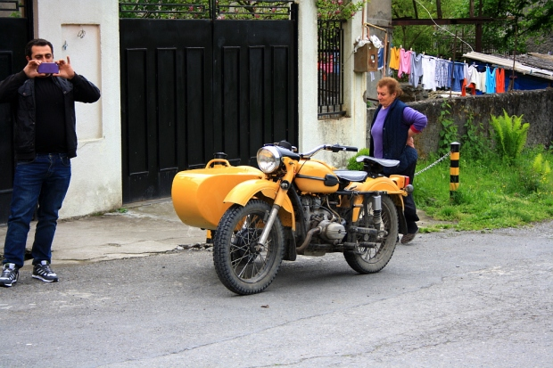 A local motorcyclist and his Ural