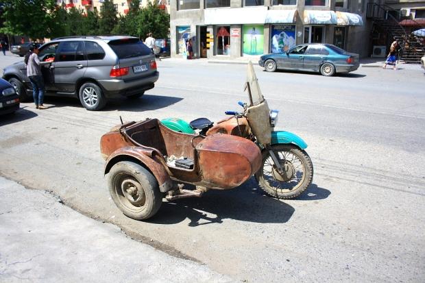 Slicks on the sidecar wheel