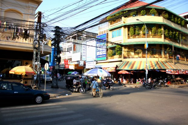 Life-time job for an engineer - drawing a plan of the power lines in Phnom Penh