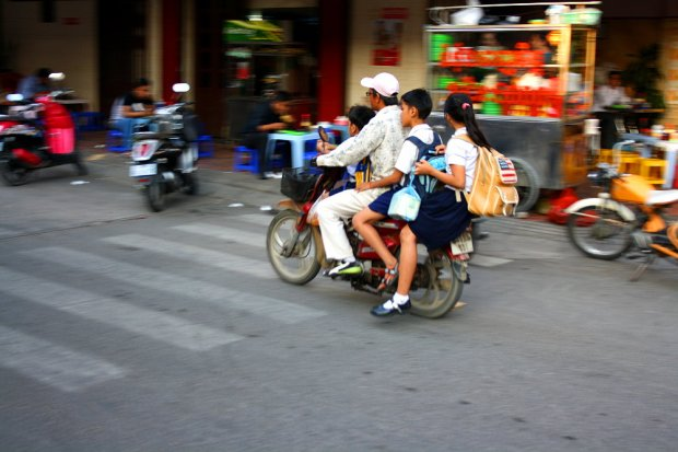 Four on one scooter