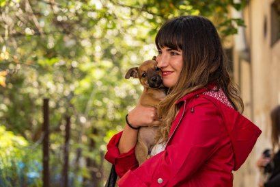 Natia, one of the active people of Tbilisi caring about community dogs
