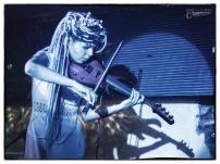 Maya and her e-violin
